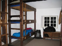 The upstairs bunk room